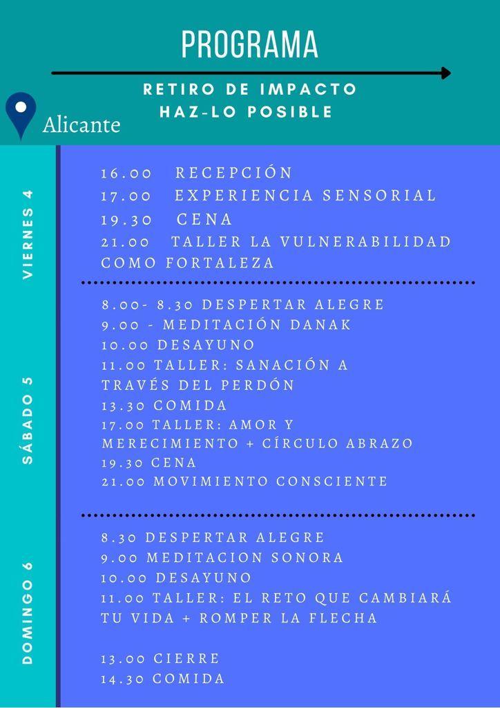 Programa Retiro Alicante